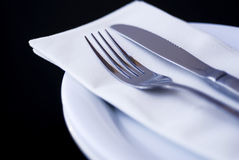Restaurant Silver wear Stock Photo