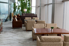 Restaurant, sofas and tables Stock Image