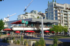 Restaurant at Southeast False Creek Royalty Free Stock Photography