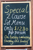 Restaurant specials sign Stock Photo