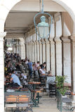 Restaurant in Spianada Square, Corfu Royalty Free Stock Images