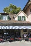 Restaurant in Spiez, Switzerland Royalty Free Stock Photo