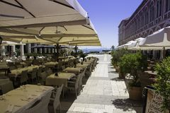 Restaurant in Split - Croatia. Restaurant near port in Split Stock Images