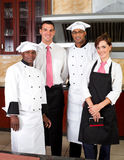 Restaurant staff. Inside industrial kitchen Stock Photography