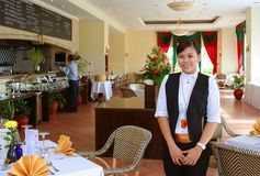 Restaurant staff. Hotel's Restaurant staff at work stock photos