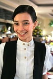 Restaurant staff. Or waitress at work Stock Photos