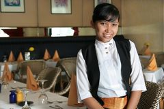 Restaurant staff or waitress Royalty Free Stock Photography