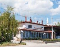 Restaurant ` Stary Krym `, Kiparisnoe, de Krim Stock Afbeelding