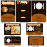 Restaurant stationary Stock Image