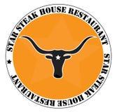 Restaurant and steak house logo Stock Photography