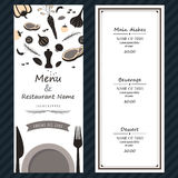 Restaurant steak menu ingredients fresh template backgroud cover Stock Photography
