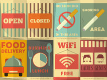 Restaurant Stickers Set Stock Images