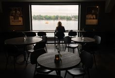 Restaurant  in stockholm Stock Images