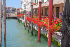 Restaurant on the streets of Venice Royalty Free Stock Photography