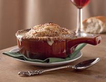 Restaurant style French onion soup Royalty Free Stock Photo