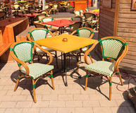 Restaurant summer terrace Royalty Free Stock Photos