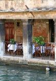 Restaurant sur l'eau Image libre de droits