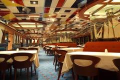 Restaurant sur la côte Deliziosa de bateau de croisière Images libres de droits