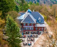 Restaurant sur la colline à Karlovy Vary Photographie stock