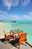Restaurant sur la plage Image stock