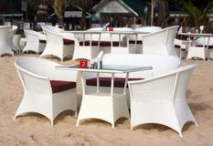Restaurant sur la plage Images stock