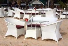 Restaurant sur la plage Images stock