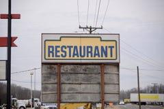 Restaurant sur le bord de la route Photos libres de droits