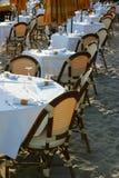 Restaurant sur une plage Photos libres de droits