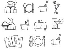 Restaurant symbols Royalty Free Stock Photography