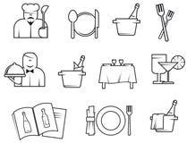 Restaurant symbols Royalty Free Stock Photography