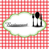 Restaurant symbols Stock Image