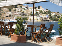 Restaurant in Symi Royalty Free Stock Photos