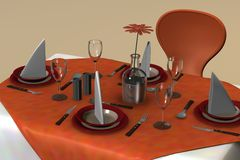 Restaurant table Stock Image