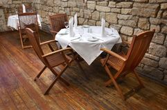 Restaurant table. Served restaurant table ready for customers Stock Image