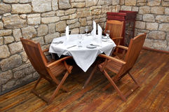 Restaurant table. Served restaurant table ready for customers Royalty Free Stock Images