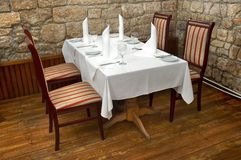 Restaurant table. Served restaurant table ready for customers Stock Photos