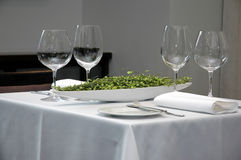 Restaurant table Stock Photos