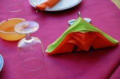 Restaurant table. Table set up for dinner Royalty Free Stock Image