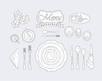 Restaurant Table Appointment Stock Images