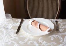 Restaurant table arrangement Stock Image