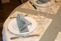 Restaurant table arrangement Stock Photos