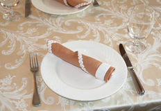 Restaurant table arrangement Stock Photography