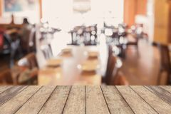 Restaurant table blur defocused background Stock Image