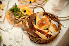 Bread in a basket Stock Photo