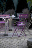 Restaurant. Table and chairs outside a restaurant Stock Images