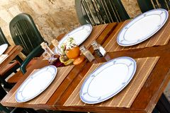 Restaurant table - Dubrovnik Stock Image
