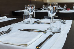 Restaurant table stock image
