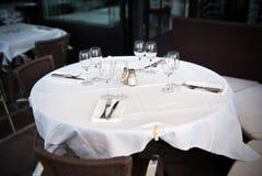 Restaurant, table for four stock photo