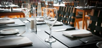 Restaurant table. Generic image restaurant table background stock image