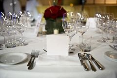 Restaurant table Royalty Free Stock Photography